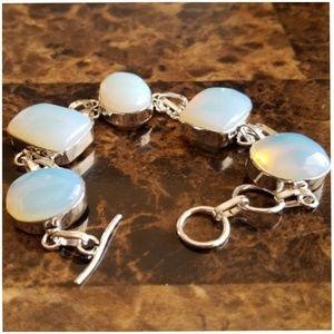 Jewelry - 7 inch long Milky Opal Bracelet